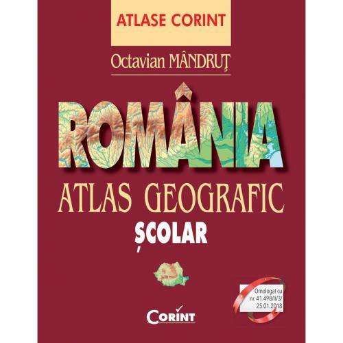 Carte Editura Corint - Atlas geografic Romania nou - Octavian Mandrut - Carti pentru copii -