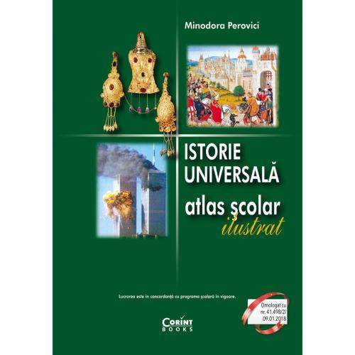Carte Editura Corint - Atlas istorie universala ilustrat - Minodora Perovici - Carti pentru copii -