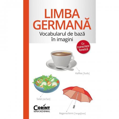 Carte Editura Corint - Vocabularul de baza in imagini cu transcriere fonetica Limba germana - Carti pentru copii -