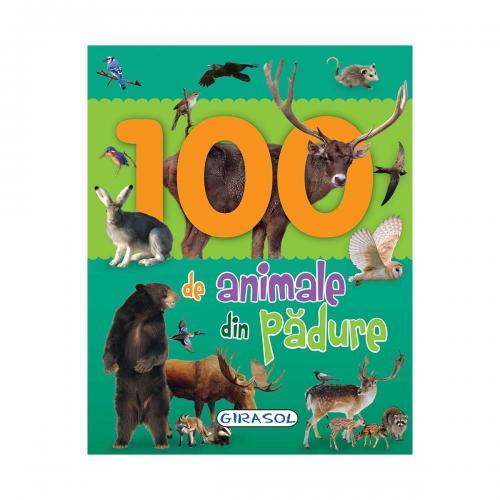 Carte Editura Girasol - 100 de animale din padure - Carti pentru copii -