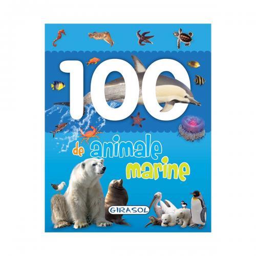 Carte Editura Girasol - 100 de animale marine - Carti pentru copii -