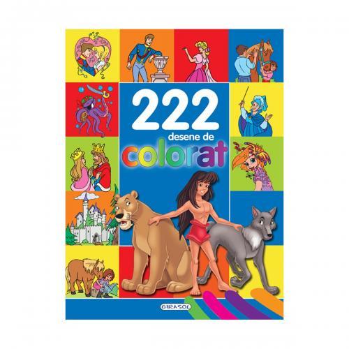Carte Editura Girasol - 222 desene de colorat - Carti pentru copii -