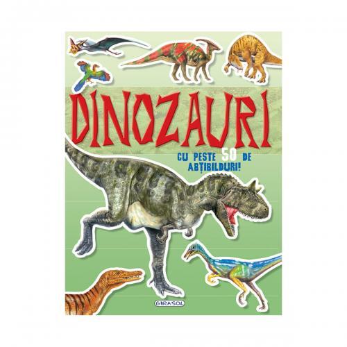 Carte Editura Girasol - Cauta si lipeste - Dinozauri - Carti pentru copii -