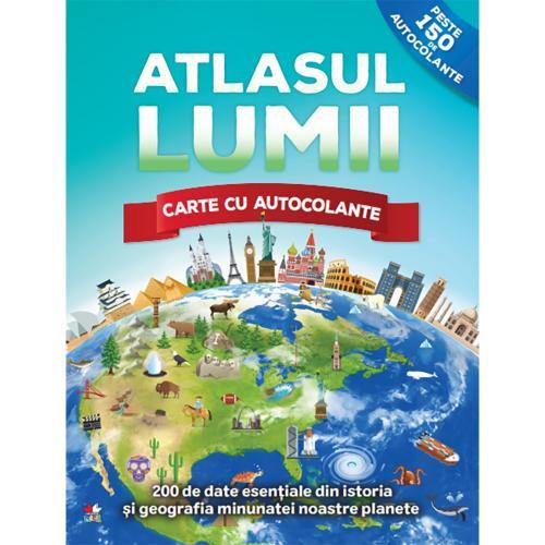 Carte Editura Litera - Atlasul lumii Carte cu autocolante - Carti pentru copii -