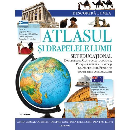 Carte Editura Litera - Descopera Lumea - Atlasul si drapelele lumii - Carti pentru copii -