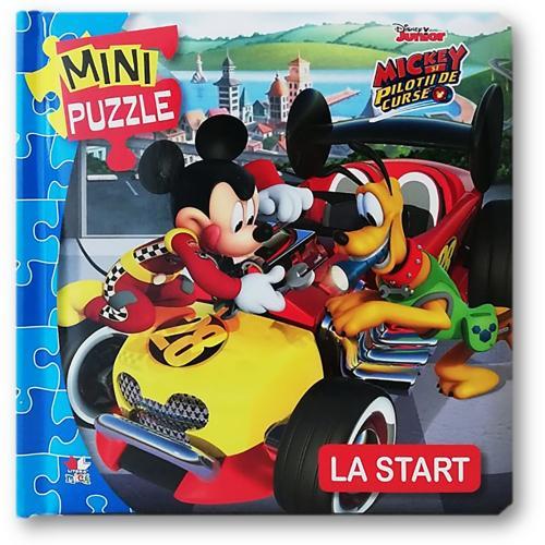 Carte Editura Litera - Disney junior Mini puzzle Mickey si pilotii La start - Carti pentru copii -
