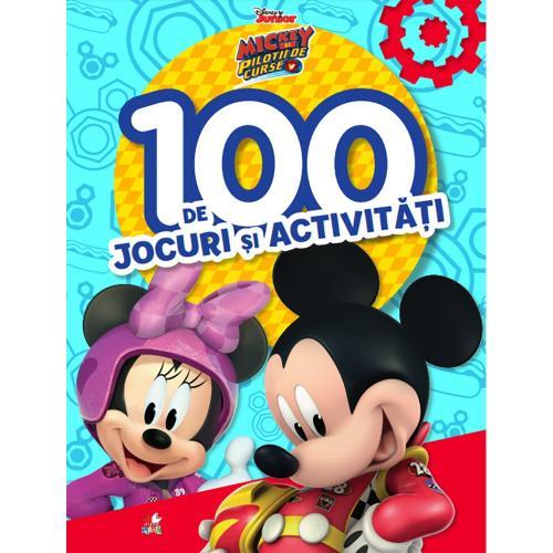 Carte Editura Litera - Disney Mickey si pilotii de curse 100 de jocuri si activitati - Carti pentru copii -