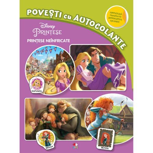 Carte Editura Litera - Disney Printese neinfricate Povesti cu autocolante - Carti pentru copii -