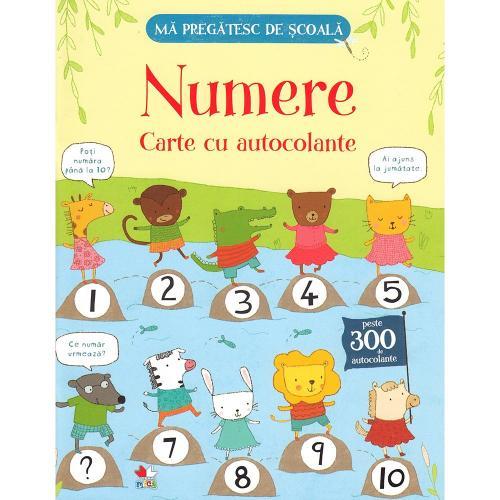 Carte Editura Litera - Ma pregatesc de scoala Numere Carte cu autocolante - Carti pentru copii -