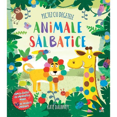 Carte Editura Litera - Pictez cu degetele Animale salbatice - Carti pentru copii -
