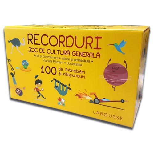 Carte Editura Litera - Recorduri Joc de cultura generala 100 de intrebari si raspunsuri - Carti pentru copii -