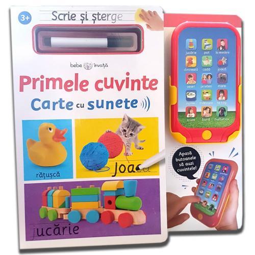 Carte Editura Litera - Scrie si sterge Primele cuvinte Carte cu sunete - Carti pentru copii -