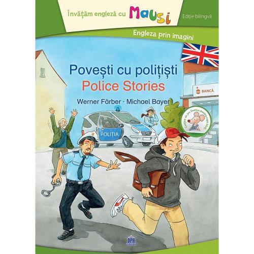 Carte Povesti cu politisti - Bilingv + Joc Domino - Editura DPH - Carti pentru copii -