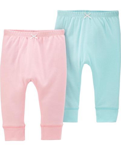 Carter's Set 2 Piese pantaloni lungi pastel - Imbracaminte copii - Seturi pantaloni fetite