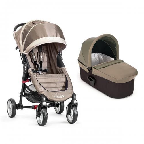 Carucior Baby Jogger City Mini 4 Sand Stone - Sistem 2 In 1 - La plimbare -