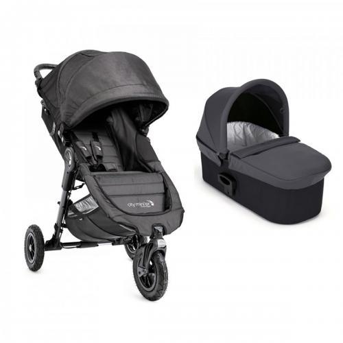 Carucior Baby Jogger City Mini Gt Charcoal Denim - Sistem 2 In 1 - La plimbare -