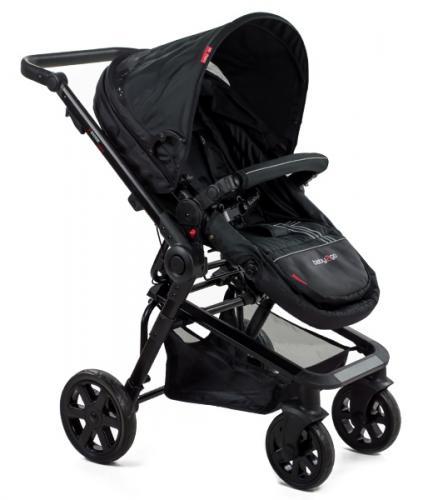Carucior copii transformabil BabyGo Black - La plimbare - Carucioare 3 in 1
