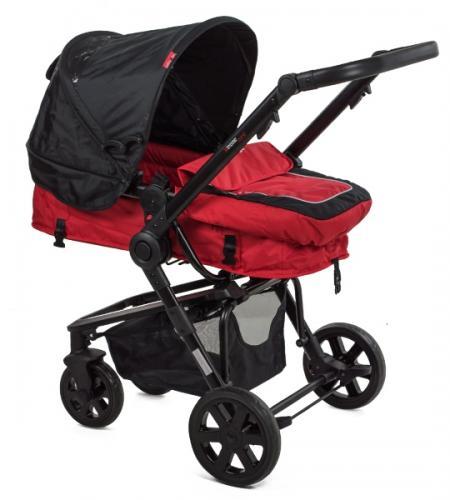 Carucior copii transformabil BabyGo Red - La plimbare - Carucioare 3 in 1