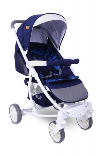 Carucior pentru nou-nascut S 300 Dark Blue Flowers - La plimbare - Carucioare standard