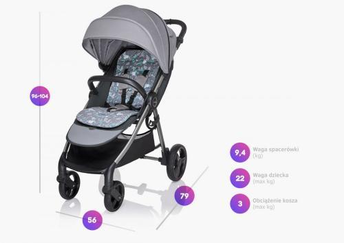 Carucior sport Baby Design Wave 03 Navy 2020 - La plimbare - Carucioare sport