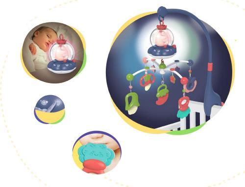 Carusel muzical multifunctional KikkaBoo All in one Blue - Camera copilului - Carusele muzicale