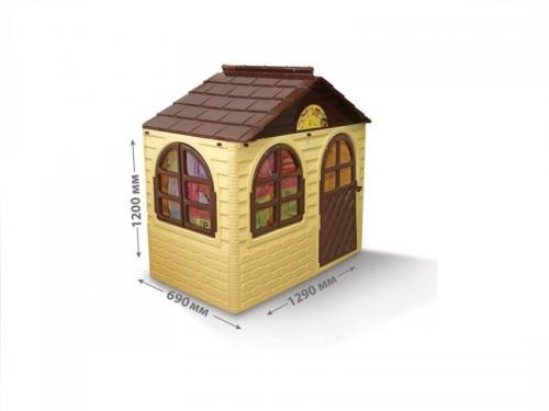 Casuta de joaca 0255012 BeigeBrown Small - Casute pentru copii -