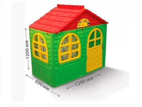 Casuta de joaca 0255013 GreenRed Small - Casute pentru copii -