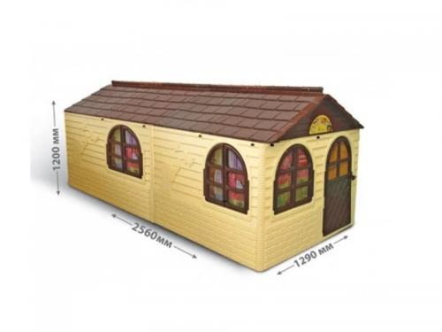 Casuta de joaca 0255022 BeigeBrown Big - Casute pentru copii -