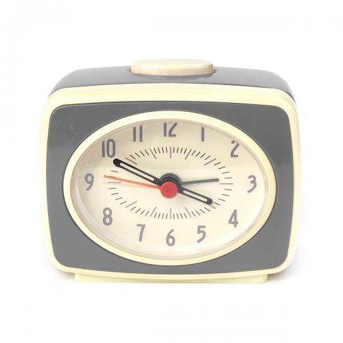 Ceas cu alarma Retro - Quartz - Noriel Impulse - Gri - Home deco -