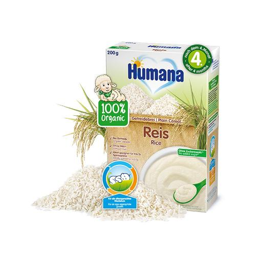 Cereale ECO - Orez fara lapte Humana - 200 g - 4 luni+ - Alimentatia bebelusului -