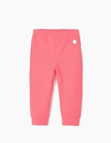 Colanti cu talie elastica Heart Zippy - Roz - Imbracaminte copii - Pantaloni