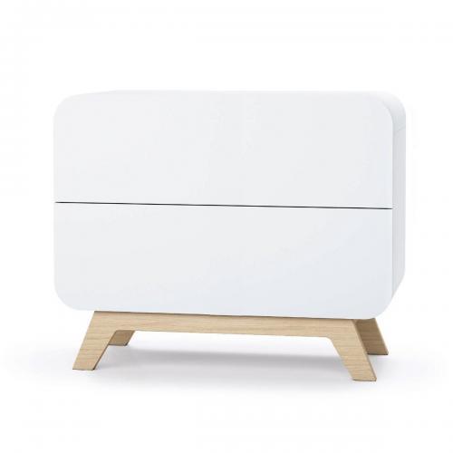 Comoda cu colturi rotunjite Home Concept - Alb - Camera copilului - Mobila camera copii