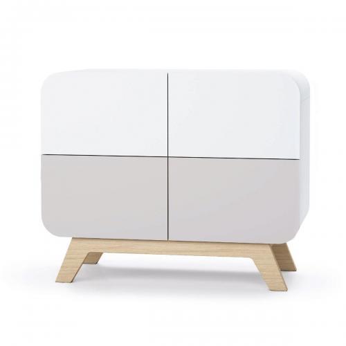 Comoda cu colturi rotunjite Home Concept - Gri - Camera copilului - Mobila camera copii