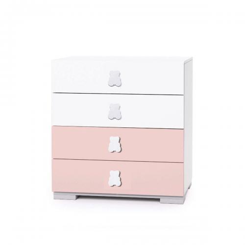 Comoda Home Concept - Roz - 4 sertare - Camera copilului - Mobila camera copii