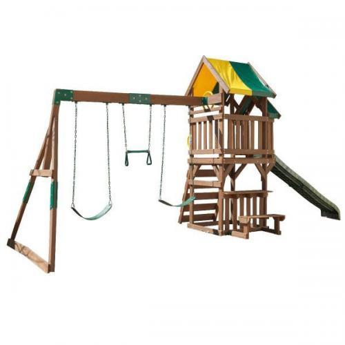 Complex de joaca Arbor Crest Deluxe Kidkraft - Jucarii de exterior - Spatiu de joaca