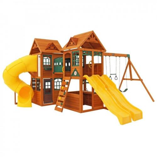 Complex de joaca din lemn de cedru Kingsbridge Wooden Kidkraft - Jucarii de exterior - Spatiu de joaca