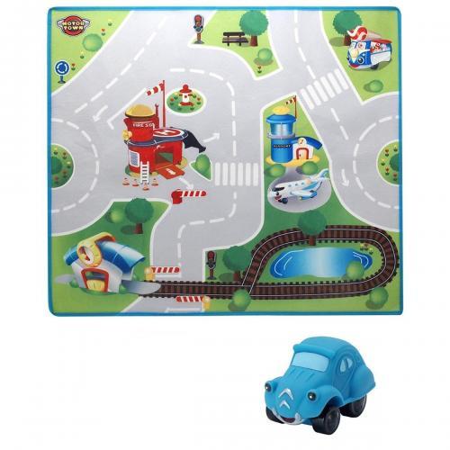 Covoras de joaca cu masinuta Motor Town - Jucarii pentru bebelusi -