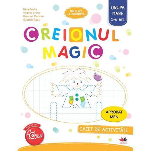 Creionul magic Caiet de activitati grupa mare 5-6 ani - Carti pentru copii -