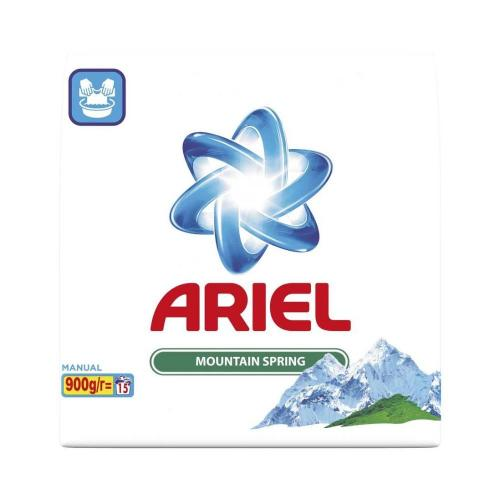 Detergent Ariel Manual Mountain Spring - 900 g - Home deco -