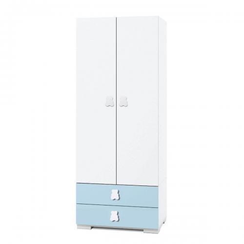 Dulap Home Concept - Bleu - 2 usi + 2 sertare - Camera copilului - Mobila camera copii