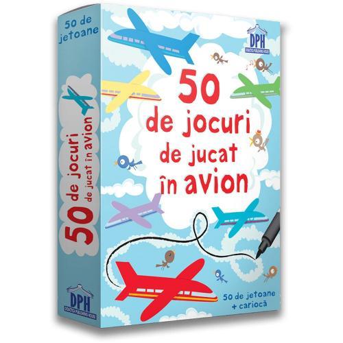 Editura DPH - 50 de jocuri de jucat in avion - Carti pentru copii -