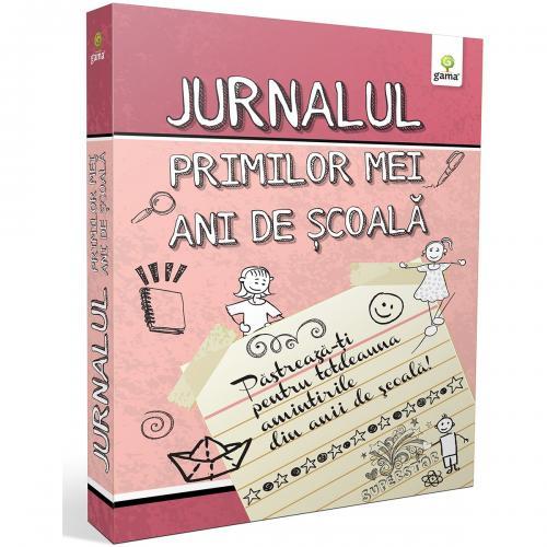 Editura Gama - Jurnalul primilor mei ani de scoala - Roz - Carti pentru copii -