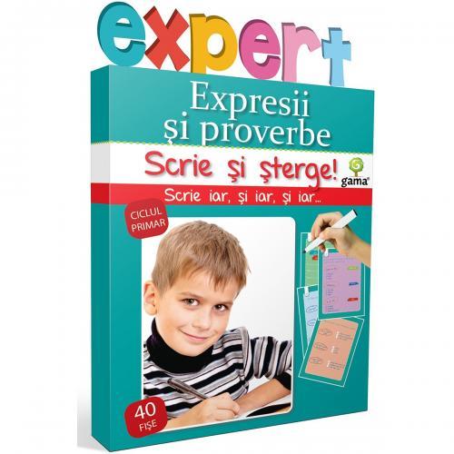 Editura Gama - Scrie si sterge Expert Romana - Expresii si proverbe - Carti pentru copii -
