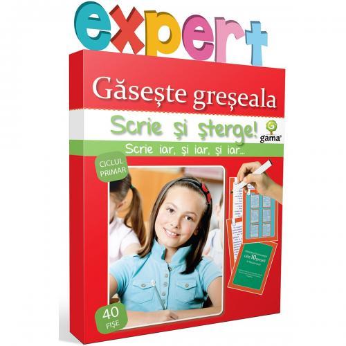 Editura Gama - Scrie si sterge Expert Romana - Gaseste greseala - Carti pentru copii -