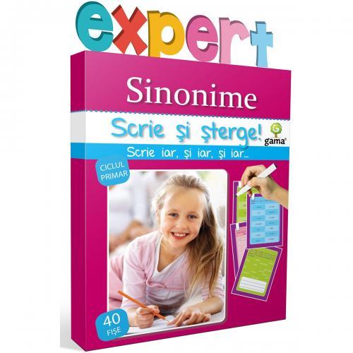 Editura Gama - Scrie si sterge Expert Romana - Sinonime - Carti pentru copii -