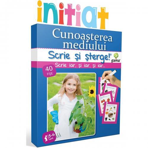 Editura Gama - Scrie si sterge Initiat - Cunoasterea mediului 5-6 ani - Carti pentru copii -