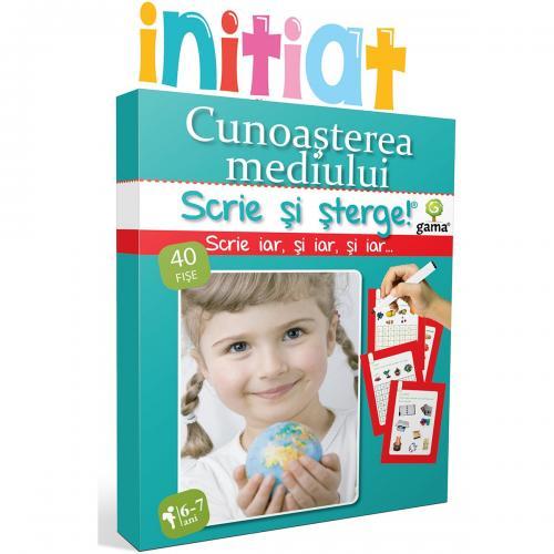 Editura Gama - Scrie si sterge Initiat - Cunoasterea mediului 6-7 ani - Carti pentru copii -