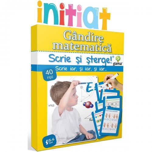 Editura Gama - Scrie si sterge Initiat - Gandire matematica 5-6 ani - Carti pentru copii -