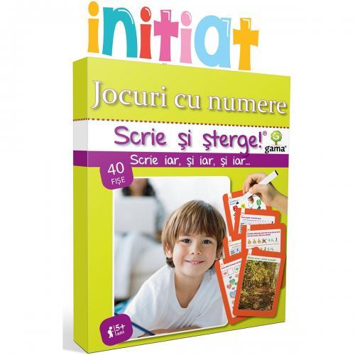 Editura Gama - Scrie si sterge Initiat - Jocuri cu numere - Carti pentru copii -