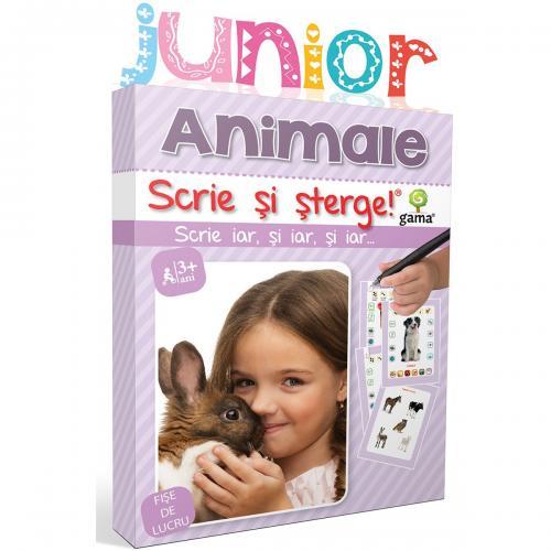Editura Gama - Scrie si sterge Junior - Animale - Carti pentru copii -